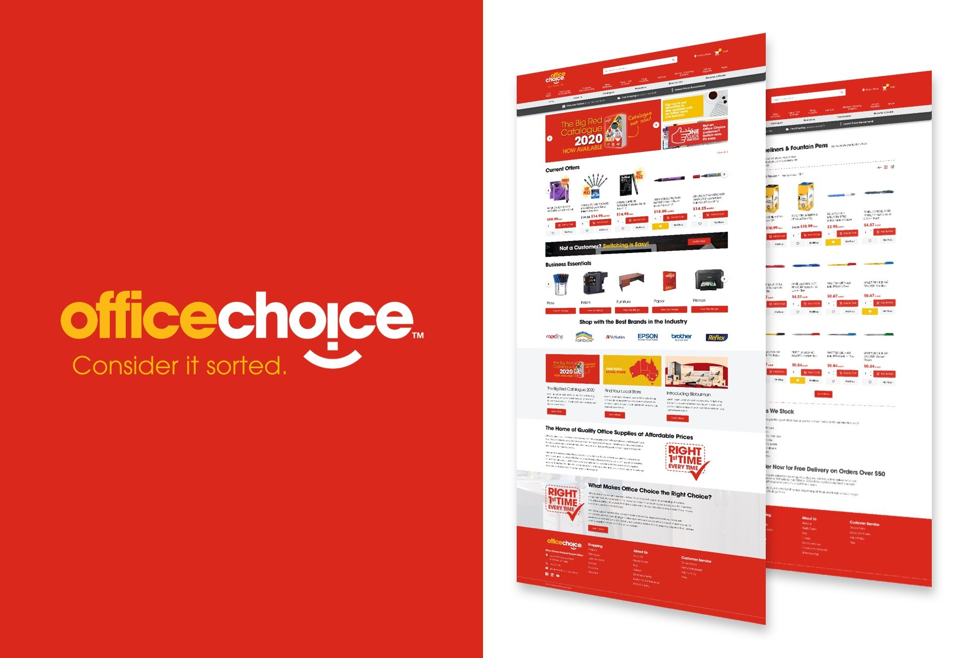 Andrew Tralongo Portfolio Web UX eCommerce Office Choice Featured
